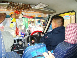 Our taxi and driver for the day